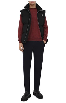 Мужские шерстяные брюки HARRIS WHARF LONDON темно-синего цвета, арт. C7015MYM | Фото 2 (Материал внешний: Шерсть; Статус проверки: Проверено, Проверена категория; Длина (брюки, джинсы): Стандартные; Случай: Повседневный)