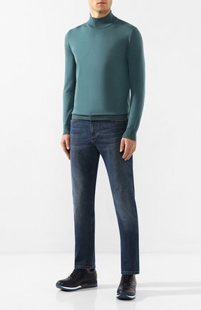 Мужские джинсы CANALI синего цвета, арт. 91755R/PD00546   Фото 2