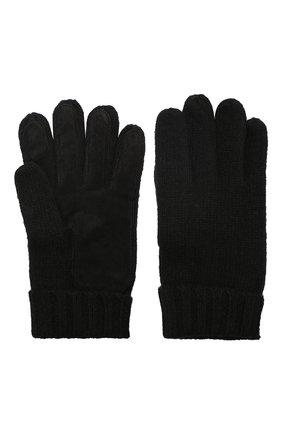 Мужские кашемировые перчатки DENTS черного цвета, арт. 5-4522 | Фото 2
