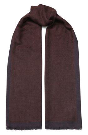 Мужской шарф из смеси кашемира и шелка CORNELIANI бордового цвета, арт. 84B303-9829009/00 | Фото 1