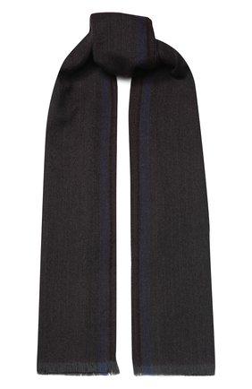 Мужской шерстяной шарф CORNELIANI темно-коричневого цвета, арт. 84B373-9829024/00   Фото 1