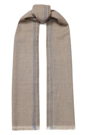 Мужской шерстяной шарф CORNELIANI бежевого цвета, арт. 84B373-9829024/00 | Фото 1