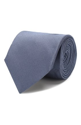 Мужской шелковый галстук CORNELIANI синего цвета, арт. 84U390-9820320/00 | Фото 1