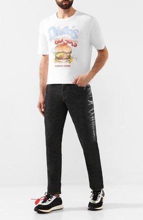 Мужская хлопковая футболка JUNYA WATANABE белого цвета, арт. WD-T017-051   Фото 2