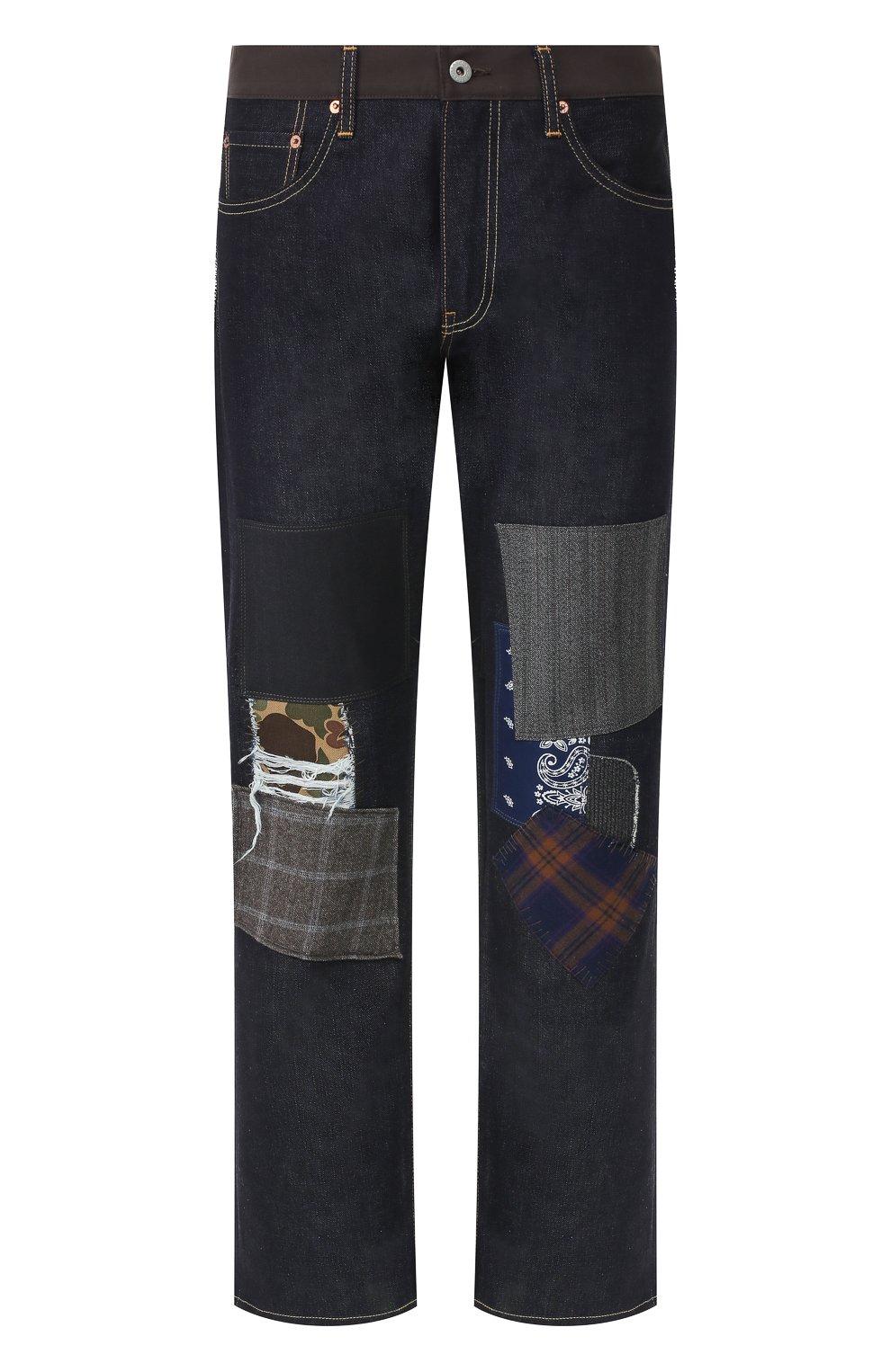 Мужские джинсы JUNYA WATANABE темно-синего цвета, арт. WD-P209-051 | Фото 1
