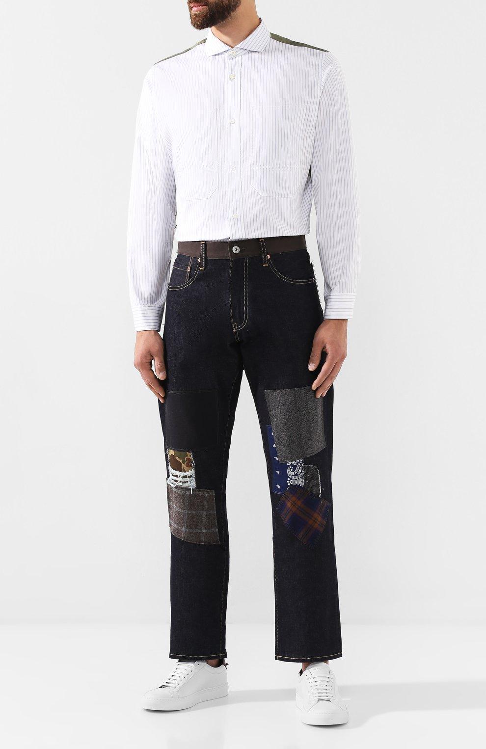 Мужские джинсы JUNYA WATANABE темно-синего цвета, арт. WD-P209-051 | Фото 2