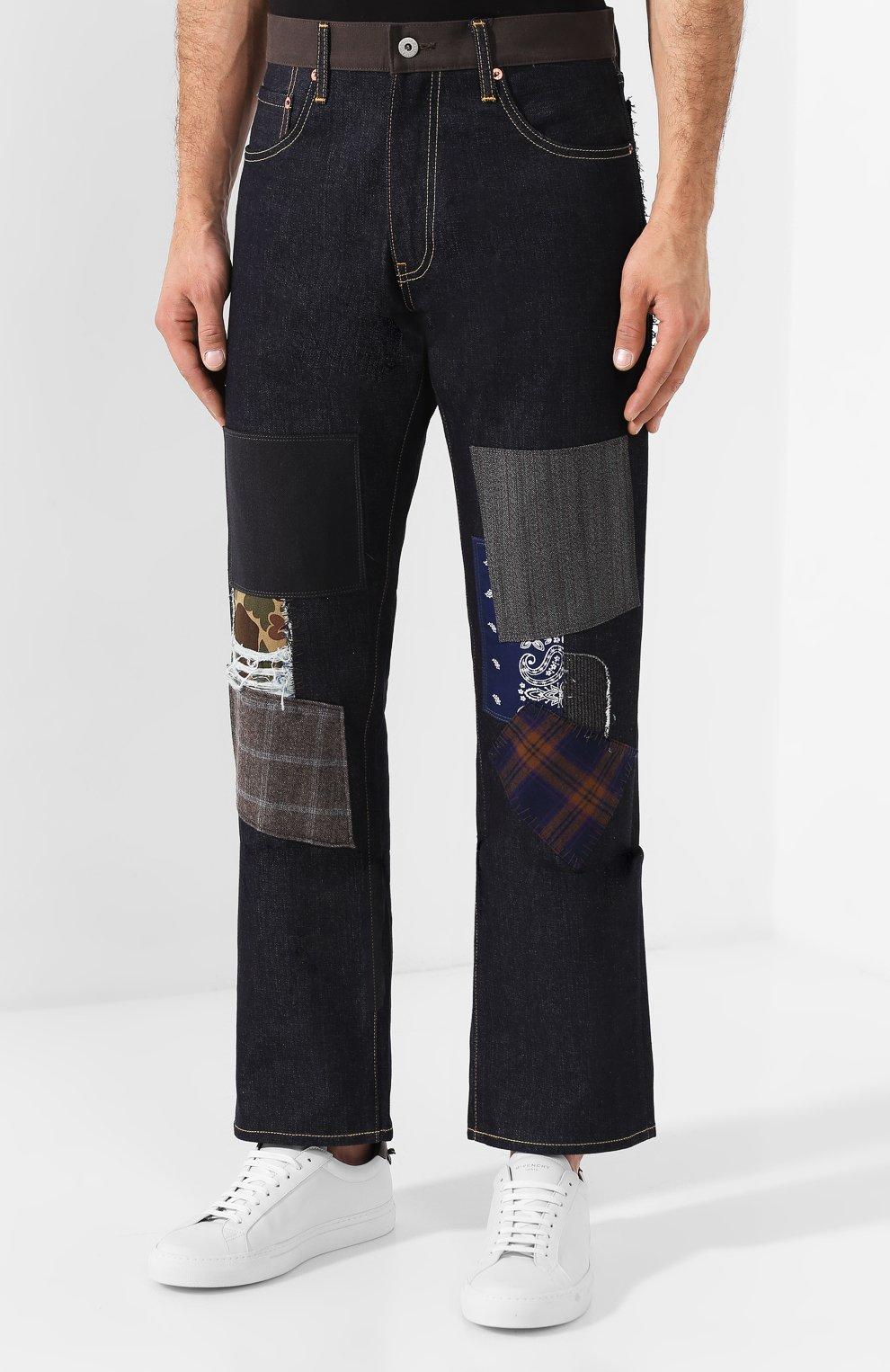 Мужские джинсы JUNYA WATANABE темно-синего цвета, арт. WD-P209-051 | Фото 3