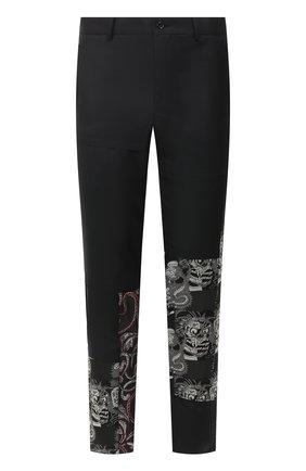 Мужские шерстяные брюки COMME DES GARCONS HOMME PLUS черного цвета, арт. PD-P013-051 | Фото 1