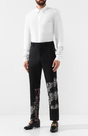 Мужские шерстяные брюки COMME DES GARCONS HOMME PLUS черного цвета, арт. PD-P013-051 | Фото 2