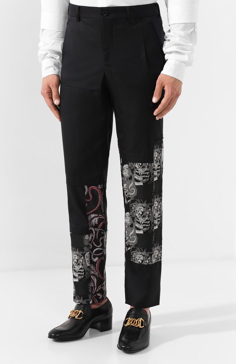 Мужские шерстяные брюки COMME DES GARCONS HOMME PLUS черного цвета, арт. PD-P013-051 | Фото 3