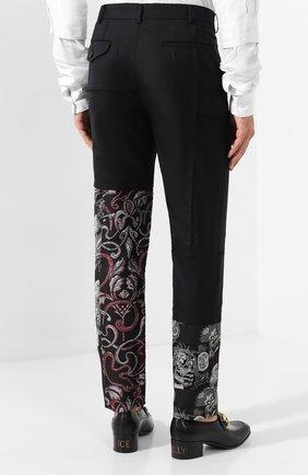 Мужские шерстяные брюки COMME DES GARCONS HOMME PLUS черного цвета, арт. PD-P013-051 | Фото 4