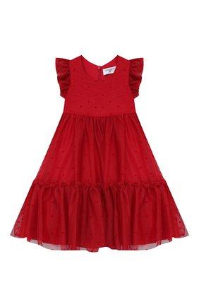 Женский платье MONNALISA красного цвета, арт. 314921 | Фото 1
