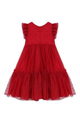 Женский платье MONNALISA красного цвета, арт. 314921 | Фото 2