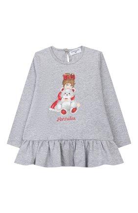 Женский платье MONNALISA серого цвета, арт. 314627PZ | Фото 1