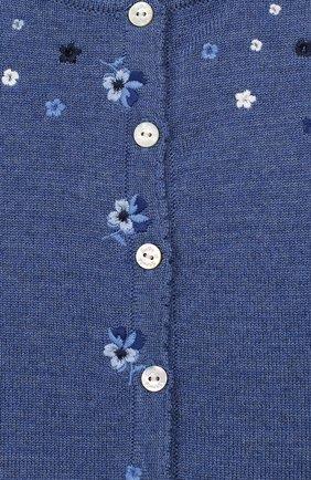 Детский шерстяной кардиган TARTINE ET CHOCOLAT голубого цвета, арт. TP18021/18M-3A | Фото 3