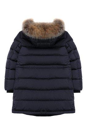 Детское пуховое пальто MONCLER ENFANT синего цвета, арт. E2-954-42368-25-68352/8-10A | Фото 2