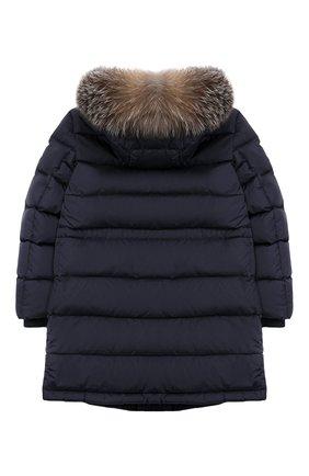 Детское пуховое пальто MONCLER ENFANT синего цвета, арт. E2-954-42368-25-68352/4-6A | Фото 2