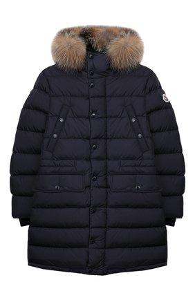 Детское пуховое пальто MONCLER ENFANT синего цвета, арт. E2-954-42368-25-68352/12-14A | Фото 1