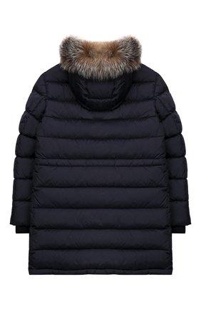 Детское пуховое пальто MONCLER ENFANT синего цвета, арт. E2-954-42368-25-68352/12-14A | Фото 2