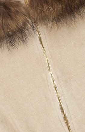 Детский бархатный кардиган CASILDA Y JIMENA светло-коричневого цвета, арт. 753158019   Фото 3 (Рукава: Длинные; Материал внешний: Хлопок; Девочки Кросс-КТ: Кардиган-одежда; Ростовка одежда: 10 - 11 лет   140 - 146см, 12 лет   152 см, 13 - 15 лет   158 см, 8 лет   128 см)
