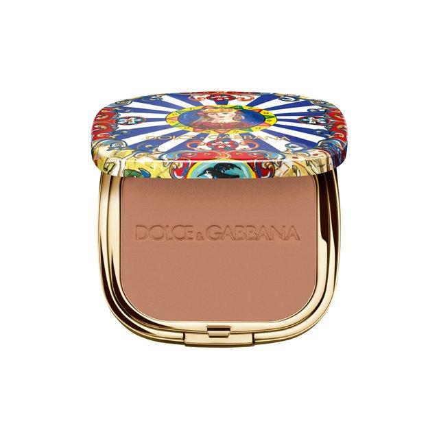 Ультралегкая бронзирующая пудра Solar Glow, 50 Amber Dolce & Gabbana