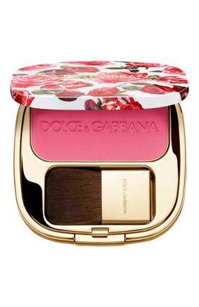 Женские румяна с эффектом сияния blush of roses, 210 pink power DOLCE & GABBANA бесцветного цвета, арт. 8568850DG | Фото 1