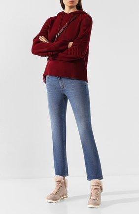 Женские кожаные ботинки AGL светло-розового цвета, арт. D716565M0KE690C582 | Фото 2