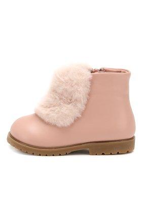 Детские кожаные ботинки AGE OF INNOCENCE розового цвета, арт. 0000121/ELLA/20-26 | Фото 2