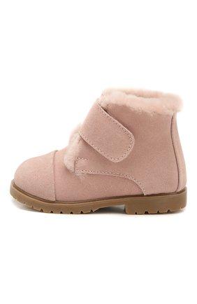 Детские замшевые ботинки AGE OF INNOCENCE розового цвета, арт. 000024/Z0EY 2.0/20-26 | Фото 2