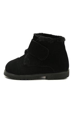 Детские замшевые ботинки AGE OF INNOCENCE черного цвета, арт. 000024/Z0EY 2.0/20-26 | Фото 2