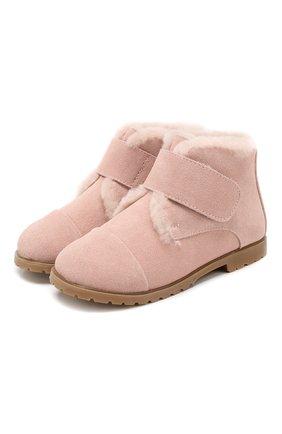 Детские замшевые ботинки AGE OF INNOCENCE розового цвета, арт. 000024/Z0EY 2.0/27-33 | Фото 1