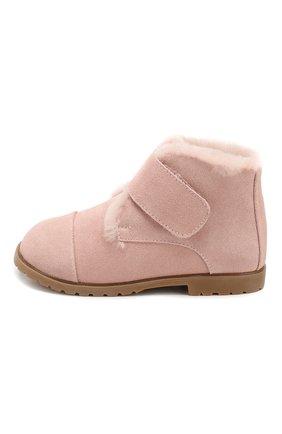 Детские замшевые ботинки AGE OF INNOCENCE розового цвета, арт. 000024/Z0EY 2.0/27-33 | Фото 2