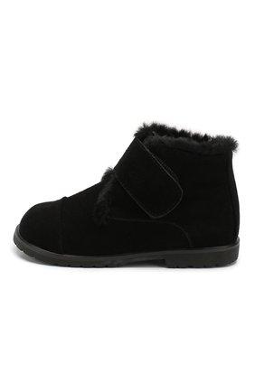 Детские замшевые ботинки AGE OF INNOCENCE черного цвета, арт. 000024/Z0EY 2.0/27-33 | Фото 2