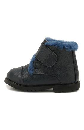 Детские кожаные ботинки AGE OF INNOCENCE синего цвета, арт. 000024/Z0EY 3.0/20-26 | Фото 2