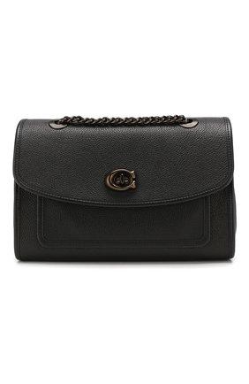 Женская сумка soft parker COACH черного цвета, арт. 75575 | Фото 1