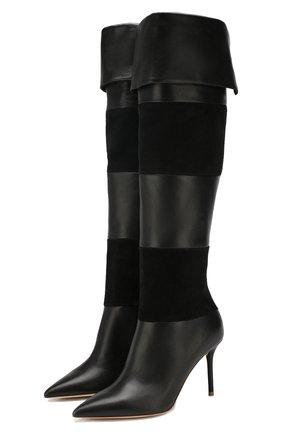 Женские кожаные ботфорты viola MALONE SOULIERS черного цвета, арт. VI0LA MS 0TK 85-2 | Фото 1