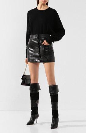 Женские кожаные ботфорты viola MALONE SOULIERS черного цвета, арт. VI0LA MS 0TK 85-2 | Фото 2