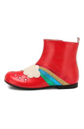 Детские кожаные ботинки GUCCI красного цвета, арт. 579678/D73K0 | Фото 2