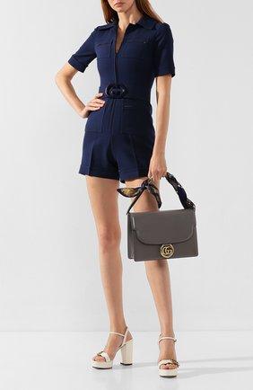 Женская сумка gg ring medium GUCCI серого цвета, арт. 596478/1DBIG | Фото 2