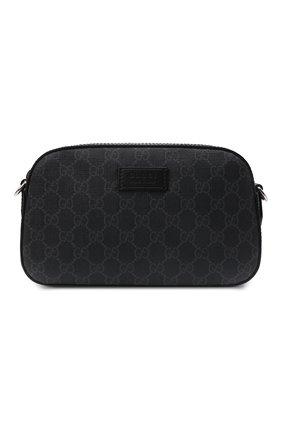 Мужская сумка gg supreme GUCCI черного цвета, арт. 574886/K5RLN   Фото 1