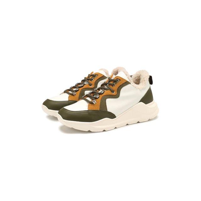 Кожаные кроссовки Yves Salomon — Кожаные кроссовки