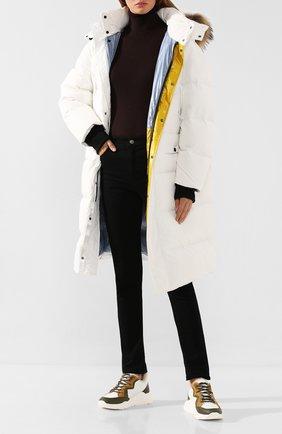 Женские кожаные кроссовки YVES SALOMON разноцветного цвета, арт. 20WAC711XXMRMX | Фото 2