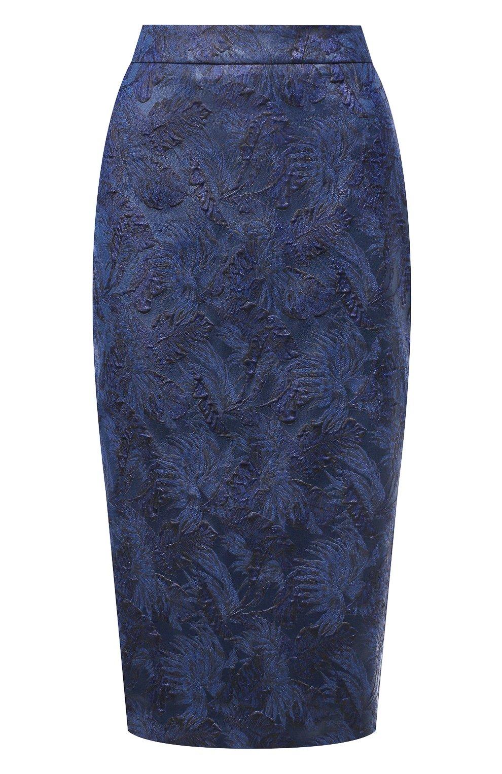 Женская юбка BOSS синего цвета, арт. 50416644   Фото 1