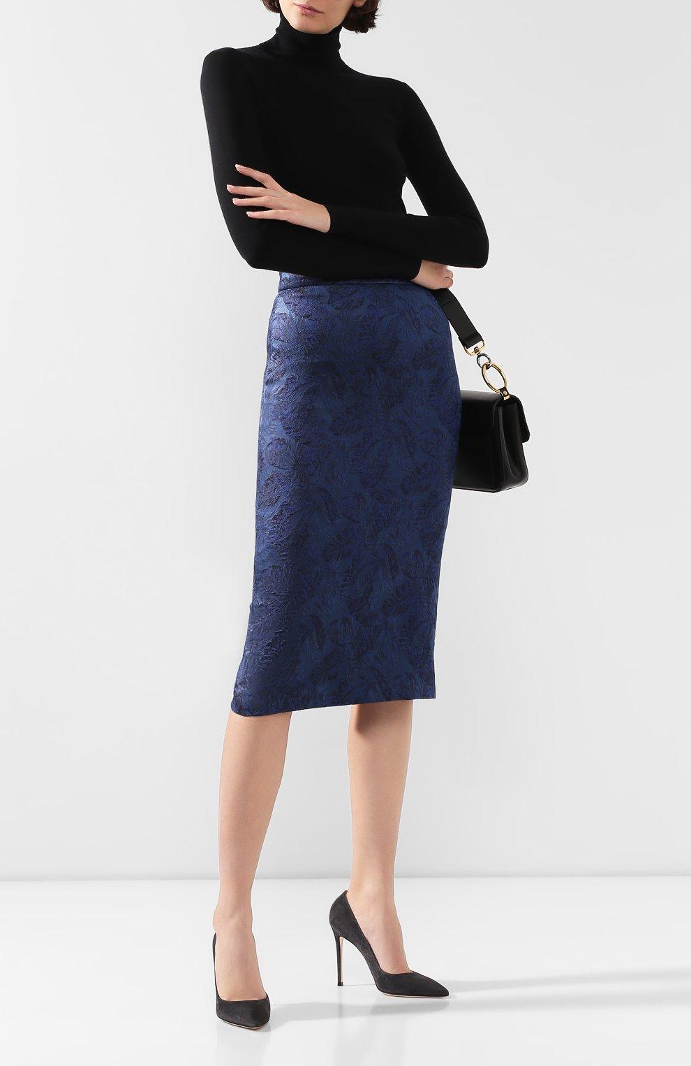 Женская юбка BOSS синего цвета, арт. 50416644   Фото 2