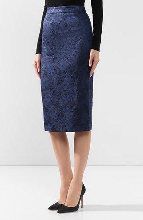 Женская юбка BOSS синего цвета, арт. 50416644   Фото 3
