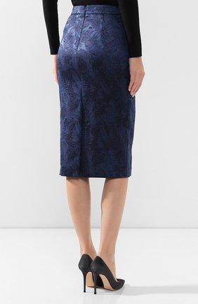 Женская юбка BOSS синего цвета, арт. 50416644   Фото 4