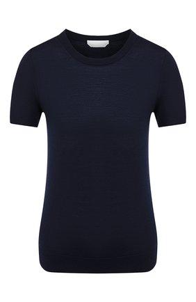 Женский шерстяной топ BOSS темно-синего цвета, арт. 50402269 | Фото 1