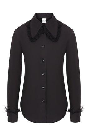 Женская хлопковая рубашка SARA ROKA черного цвета, арт. AVEREL 48/FW19-01 | Фото 1