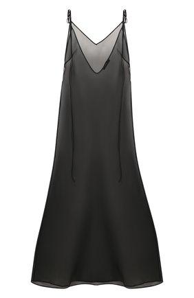 Женское шелковое платье ALANUI черного цвета, арт. LWDB002F19069013 | Фото 1