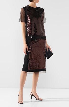 Женская юбка с пайетками MCQ SWALLOW черного цвета, арт. 567012/RNF05 | Фото 2